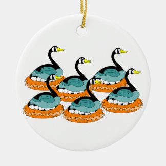 6 Geese A Laying Christmas Ornament