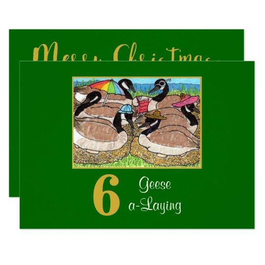 6 Geese a Laying Cute Birds Custom Christmas