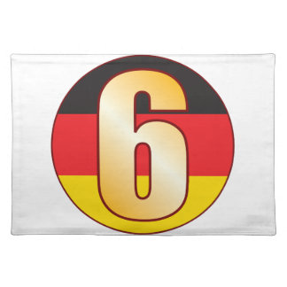 6 GERMANY Gold Placemat