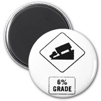 6% GRADE 6 CM ROUND MAGNET