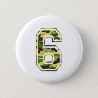 #6 Green & Yellow Camo 6 Cm Round Badge