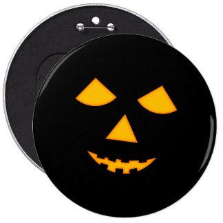 6 Jack-0-Lantern Button Halloween Accessory