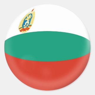 6 large stickers Bulgaria flag