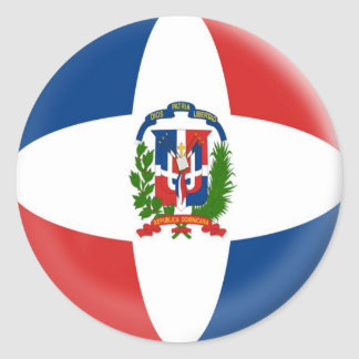 6 large stickers Dominican Republic Flag