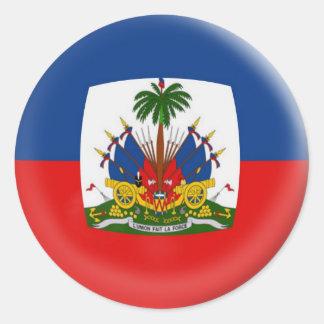 6 large stickers Haiti flag