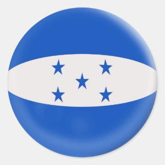 6 large stickers Honduras flag