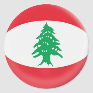 6 large stickers Lebanon flag