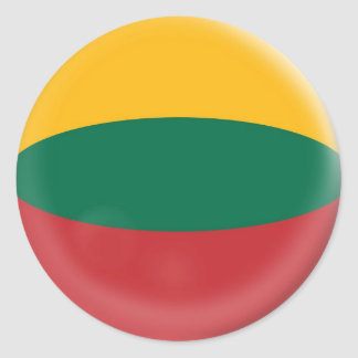 6 large stickers Lithuania Lithuanian flag