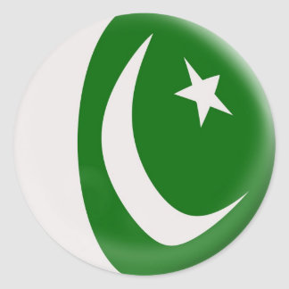 6 large stickers Pakistan flag