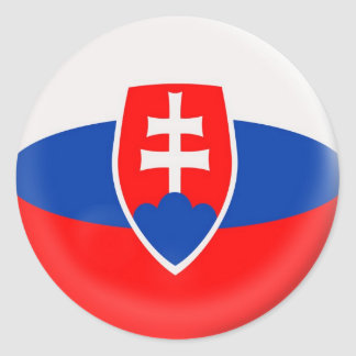 6 large stickers Slovakia Slovak flag