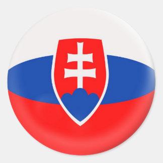 6 large stickers Slovakia Slovakian flag