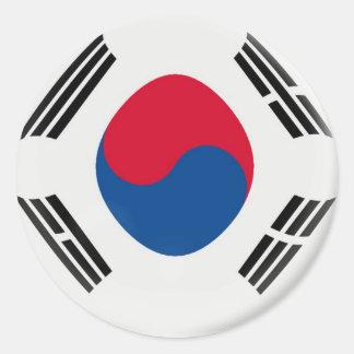 6 large stickers South Korea flag