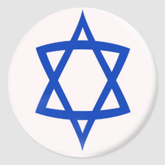 6 large stickers  Star of David flag
