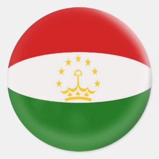 6 large stickers Tajikistan flag