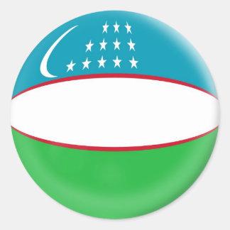 6 large stickers Uzbekistan flag