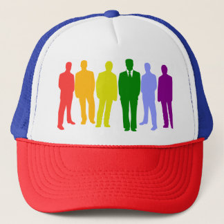 6 LGBT MEN (RAINBOW FLAG) Trucker Hat