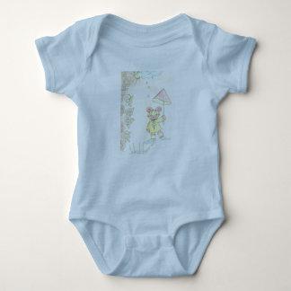6 months baby t-shirt light blue