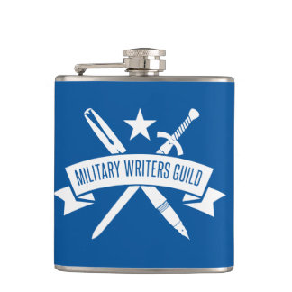 6 oz. flask, vinyl-wrapped, Air Force Academy Blue Hip Flask