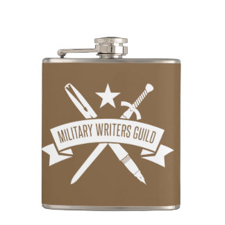 6 oz. flask, vinyl-wrapped, Coyote Brown Hip Flask