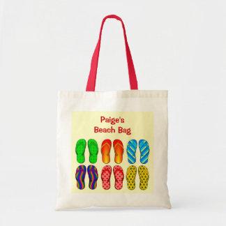 6 Pairs Colorful Beach Flip Flops Shoes Custom