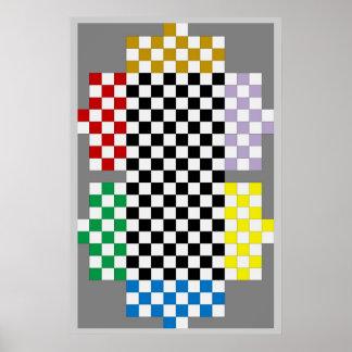 (6 Player) Texas Holdem / Chess Fridge Game Board Poster
