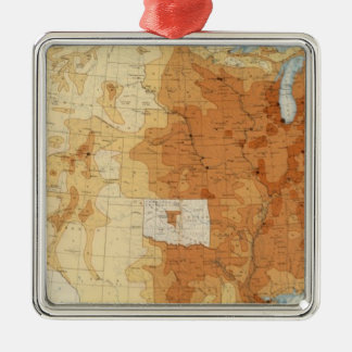6 Population 1890 Christmas Ornament