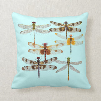 6 Species of Dragonfly Pillow