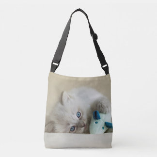 6 week old Ragdoll kitten Crossbody Bag