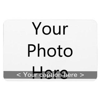 """6""""x4"""" Landscape Photo Magnet (White Text)"""