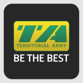 6 x Territorial Army Stickers