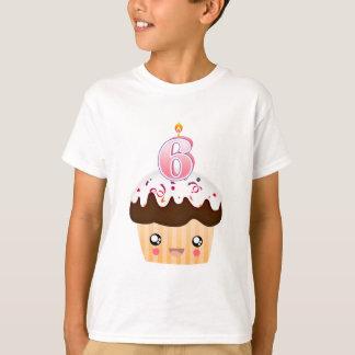 6 Year Cupcake T - Pink T-Shirt