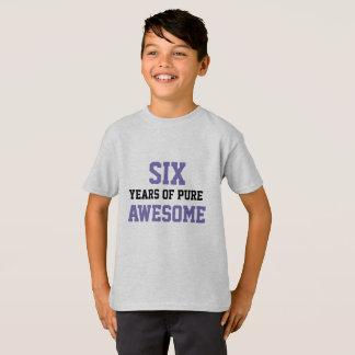 6 year old Birthday Shirt