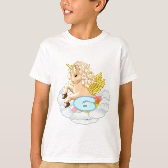 6 year old Birthday Unicorn kids t-shirt