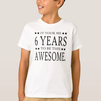 6 YEARS OLD SHIRTS