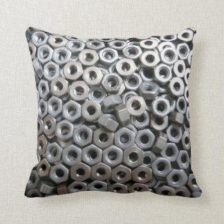 6BA Nuts. Throw Pillow
