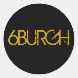 6BURGH ROUND STICKER