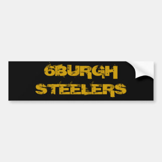 6BURGH STEELERS BUMPER STICKER