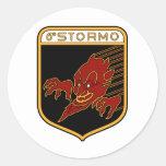 6o Stormo Classic Round Sticker
