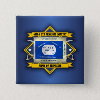 6th & 7th Arkansas Infantry (v5) 15 Cm Square Badge