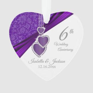 6th Amethyst Wedding Anniversary Design Ornament