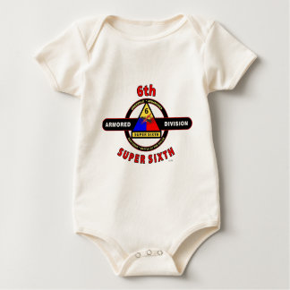 "6TH ARMORED DIVISION ""SUPER SIXTH"" BABY BODYSUITS"