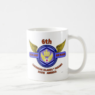 "6TH ARMY AIR FORCE ""ARMY AIR CORPS"" WW II COFFEE MUG"