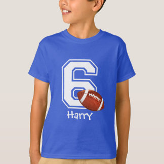 6th Birthday boy football personalized-2 T-Shirt