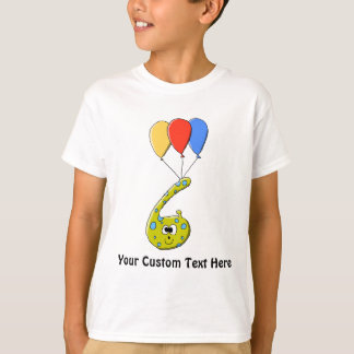 6th Birthday Cartoon Monster. Tshirt