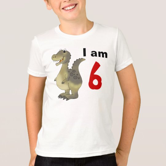 6th birthday dinosaur gift idea T-Shirt