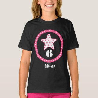 6th Birthday Gift Star and Circle Custom Name Shirts
