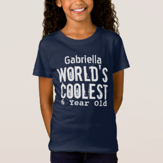 6th Birthday Gift World's Coolest 6 Year Old V26 T-Shirt
