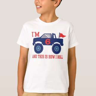 6th Birthday Monster Truck T-Shirt