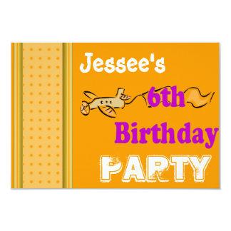 6th birthday party card