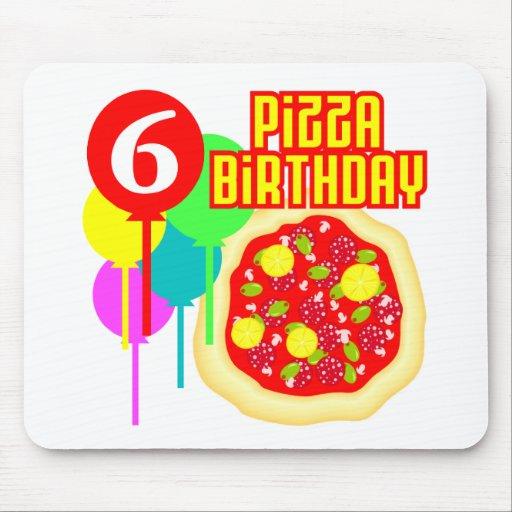 6th Birthday Pizza Birthday Mousepad